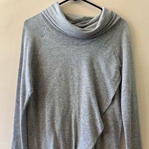 Cow-neck sweater